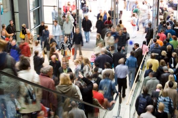 CrowdedShoppingMall-Escalators